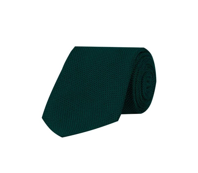 Grenadine Silk Tie - Bottle Green
