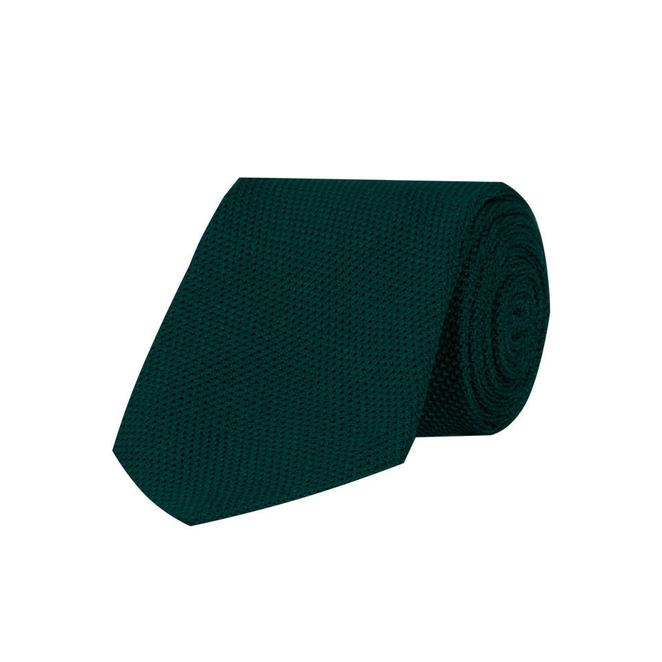 Grenadine Silk Tie - Bottle Green