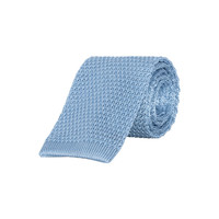 Pure Silk Knitted Tie - Sky