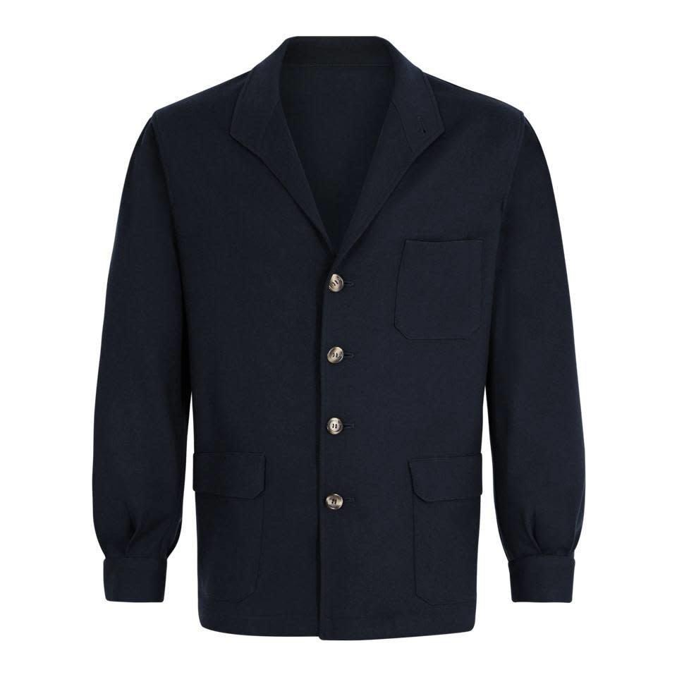 Wool Teba Jacket - Navy
