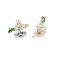 Sterling Silver Cufflinks - Flying bird