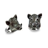 Sterling Silver Cufflinks - Boar
