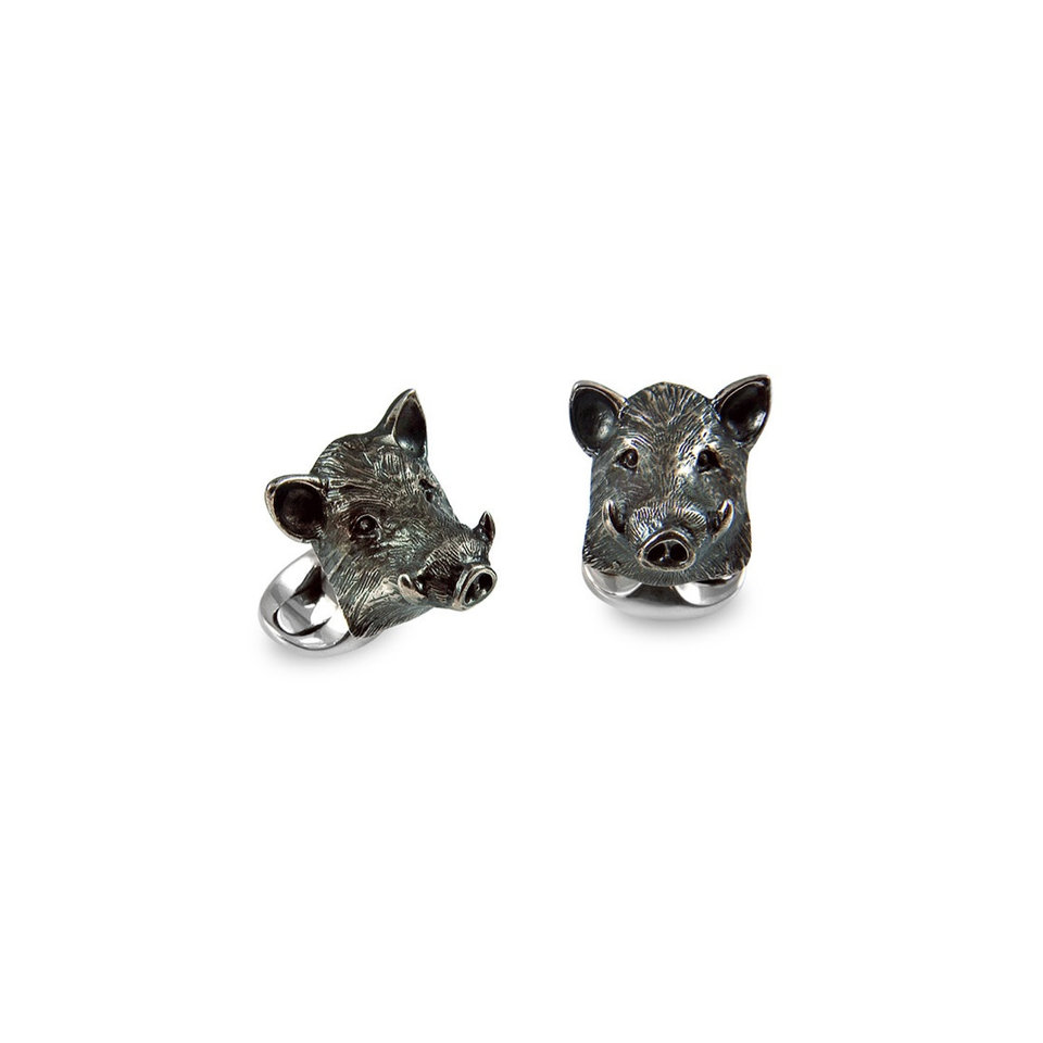 Sterling Silver Cufflinks - Boar
