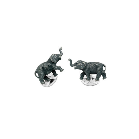 Sterling Silver Cufflinks - Elephant