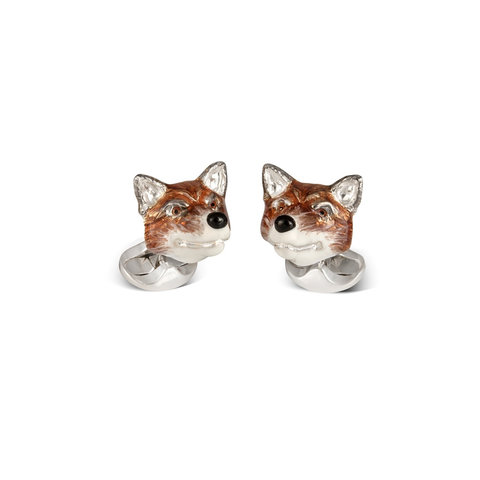Sterling Silver Cufflinks - Fox Head