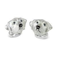 Sterling Silver Cufflinks - Labrador