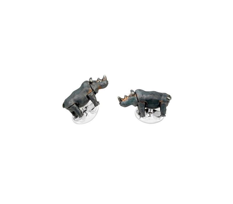 Sterling Silver Cufflinks - Rhino