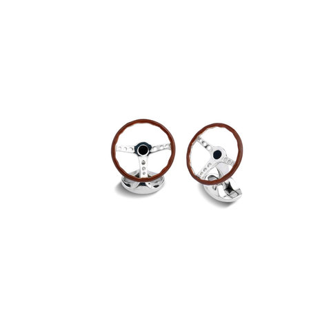 Sterling Silver Cufflinks - Steering Wheel