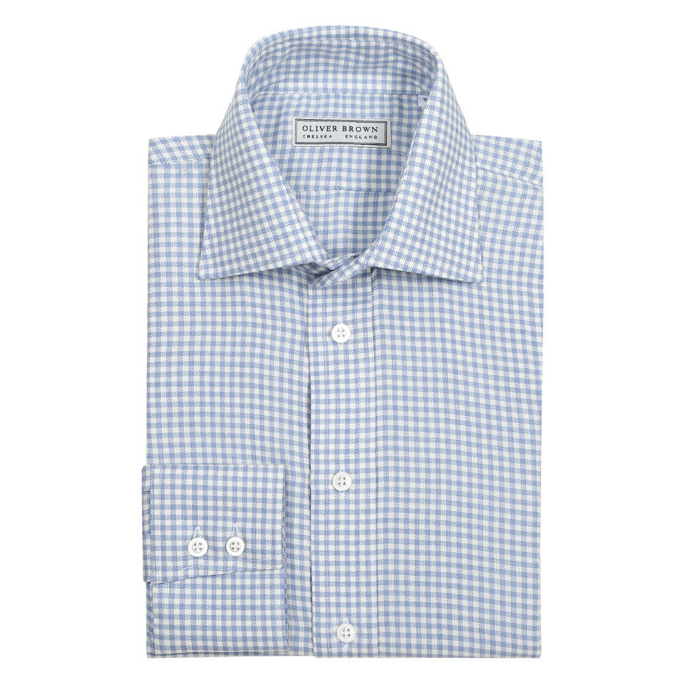 Small Gingham Shirt - Sky