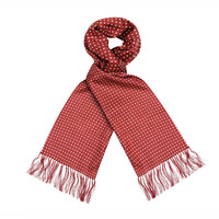 Wool & Silk Scarf, Spotted - Wine