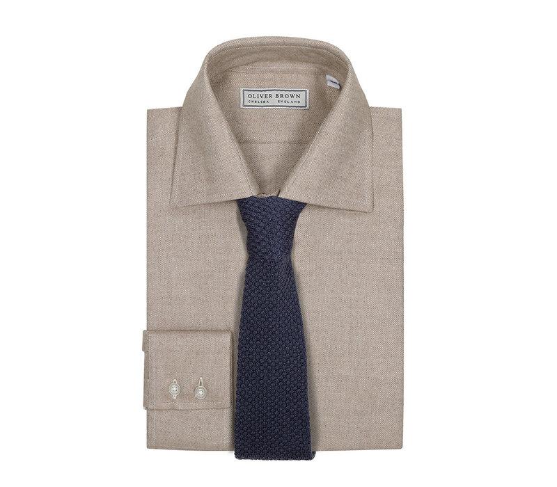 Brushed Herringbone Shirt - Ivory