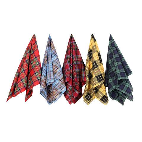 Cotton Handkerchiefs Set - Tartan