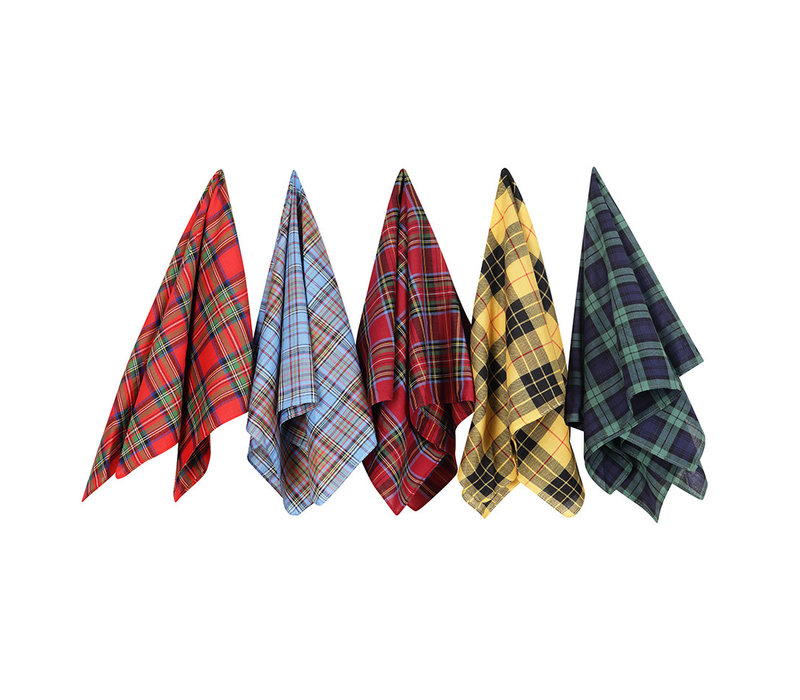 Cotton Handkerchiefs Set - Tartan