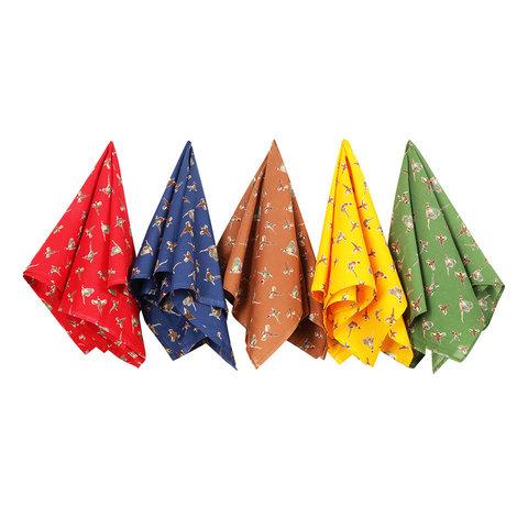 Cotton Handkerchiefs Set - Country Pheasant