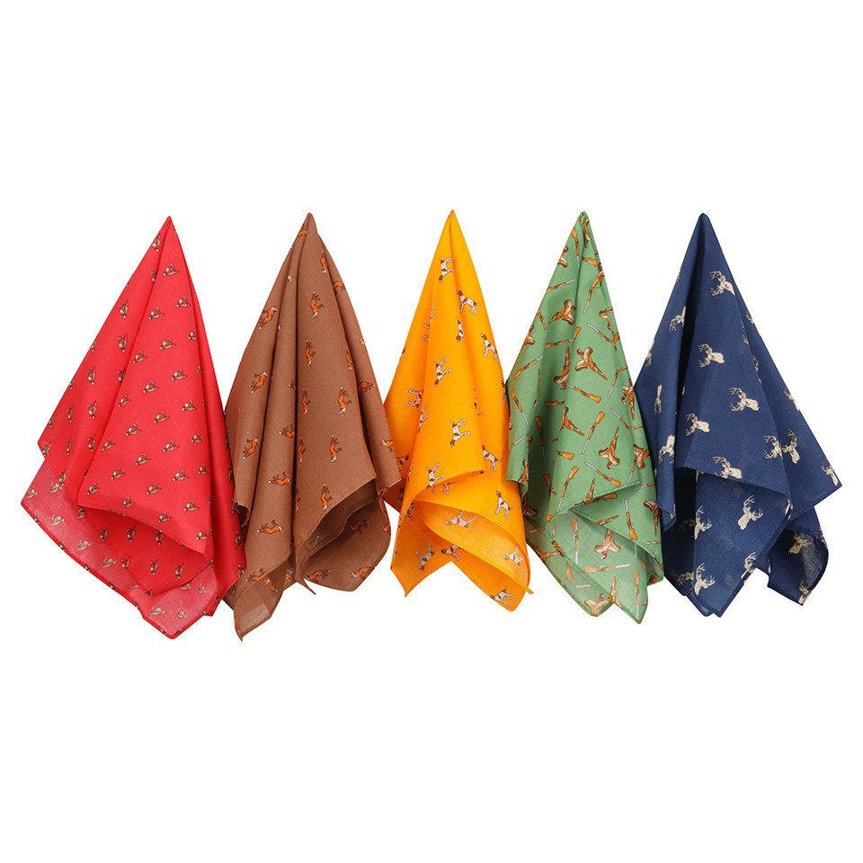 Cotton Handkerchiefs Set - Country Themed