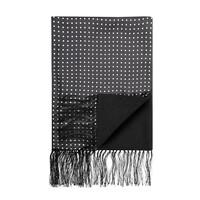 Wool & Silk Scarf, Spotted - Black