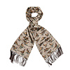 Wool & Silk Scarf, Standing Pheasant - Brown