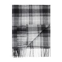 Tartan Cashmere Scarf -  Grey Buchanan