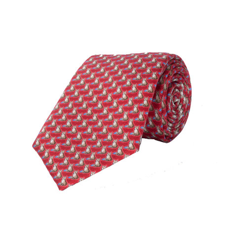 Silk Tie, Fox -  Red