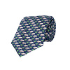 Silk Tie, Rhino - Navy
