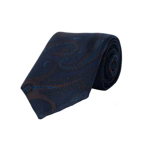 Silk Tie, Paisley - Blue