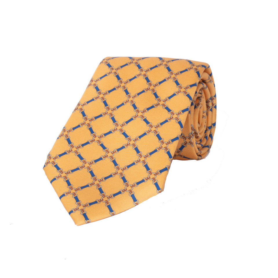 Silk Tie, Chains - Yellow