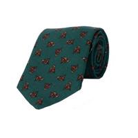 Wool tie, Fox - Green