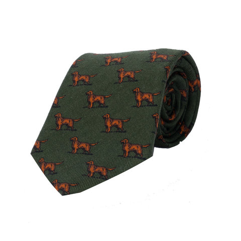 Wool tie, Dog - Green
