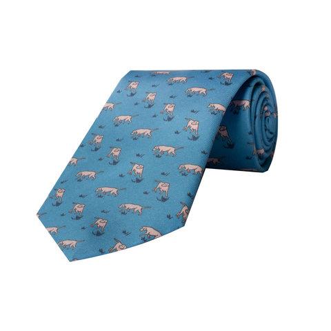 Silk Tie, Dog - Sky