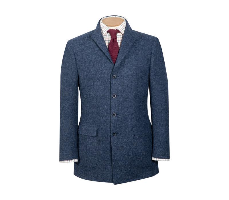 Nehru Country Jacket - Denim Blue Tweed
