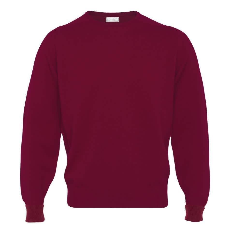 Cashmere Crew Neck Jumpers - Poppy