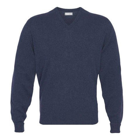 Cashmere V-Neck Jumpers - Cosmos