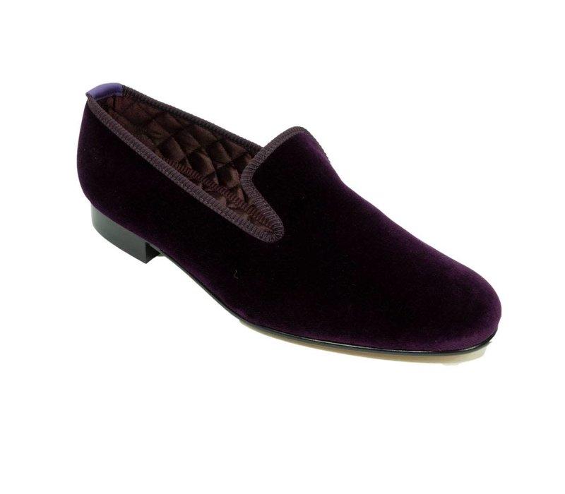 Embroidered Velvet Slippers - Regal
