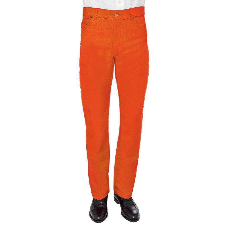 Needlecord Jeans - Orange