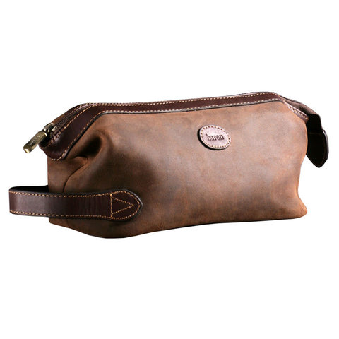 Baron Suede Leather Sponge Bag