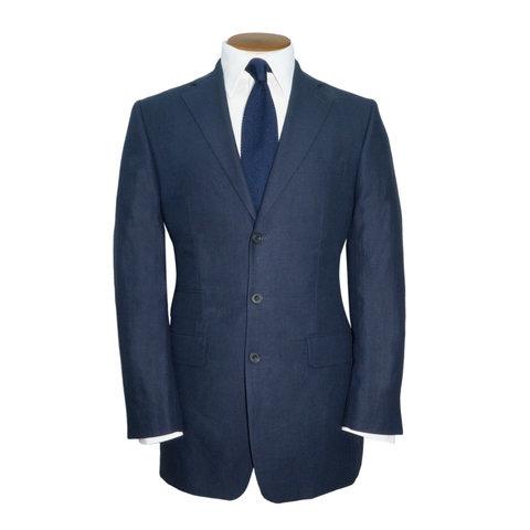 Ashburn Linen Jacket - Navy