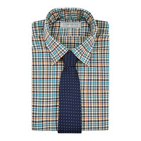 Brushed Cotton Checked Shirt - Multi