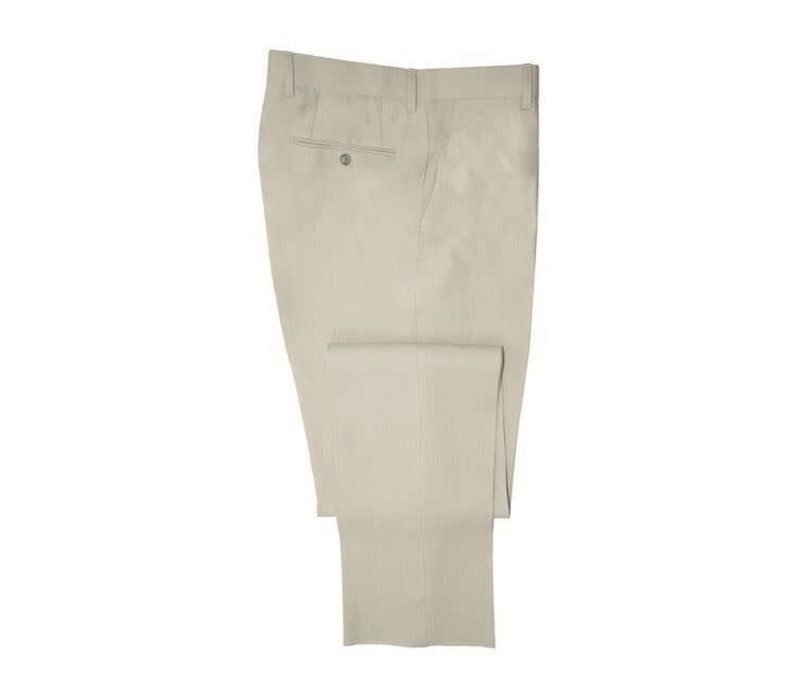 Flat Front Trousers – Taupe Linen