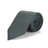 Silk Tie, Micro Floral - Green