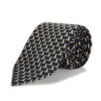 Silk Tie, Fox - Black