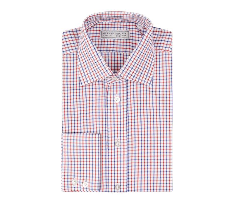 Windowpane Checked Shirt - Orange/Blue
