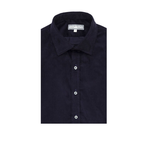 Needlecord Shirts - Navy