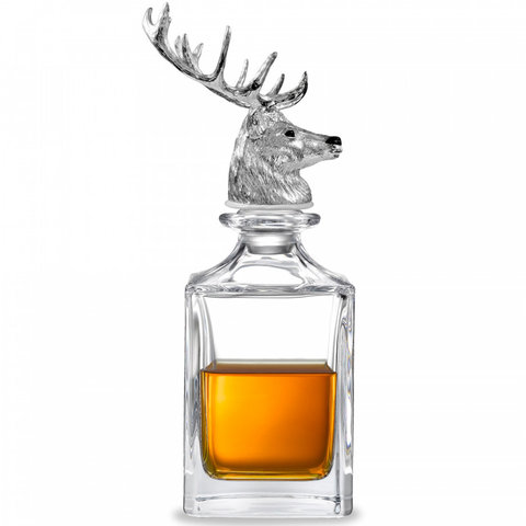 Crystal Decanter - Stag Head