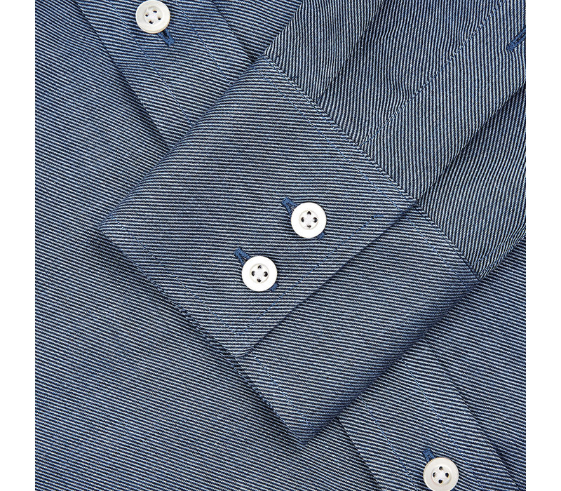 Cashmere Blend Country Shirt - Navy