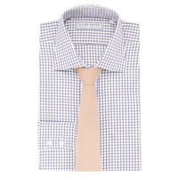 Windowpane Checked Shirt - Blue/Brown