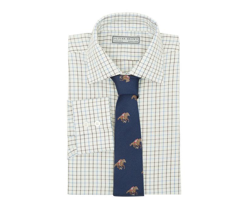 Tattersall Checked Shirt - Blue/Brown