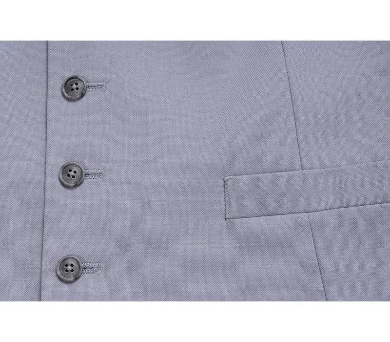 Single Breasted Wool Waistcoat - Grey