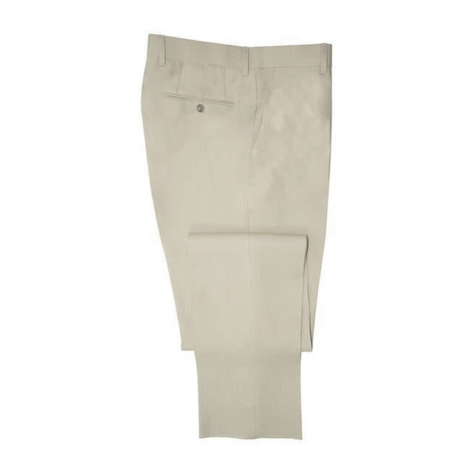 Pleated Trousers - Taupe Linen