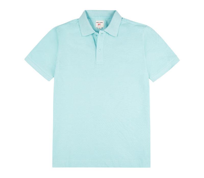 Polo Shirt, Pique - Turquoise