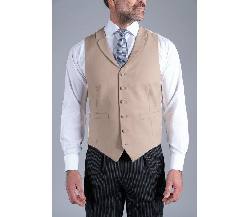 Single Breasted Wool Waistcoat - Buff